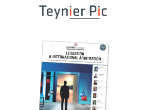 "Teynier Pic has once again been ranked as ""Excellent"" for its international arbitration practice"