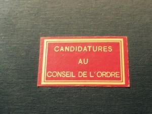Consejo del colegio de abogados de Paris