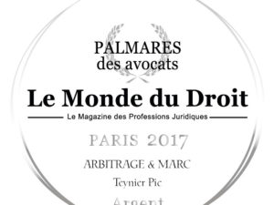 "Double honours for Teynier Pic at the 5th ""Palmares des Avocats"" Awards"