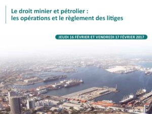 """Laurence Kiffer will speak at a seminar held in Dakar on """"Mining and Oil and Gas Law: Transactions and Dispute Resolution"""" on February 16 and 17, 2017"""