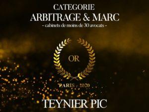 Palmarès du Droit 2020 – Trophée d'Or pour Teynier Pic